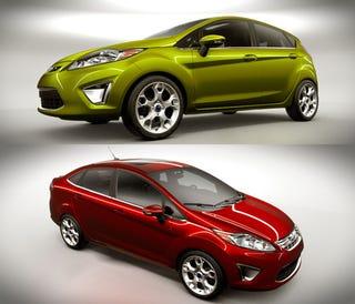 Illustration for article titled 2011 Ford Fiesta U.S. Sedan, Hatchback Revealed Accidentally