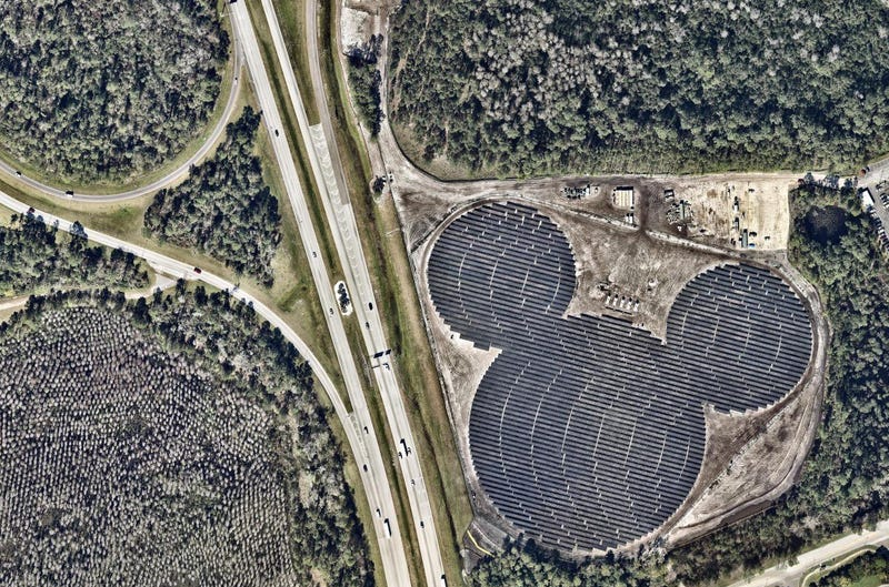 Duke Energy owns and operates the solar array, which supplies power to Walt Disney World. Source: Nearmap