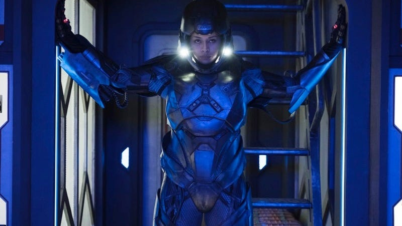Bobbie (Frankie Adams) is charged up and ready.