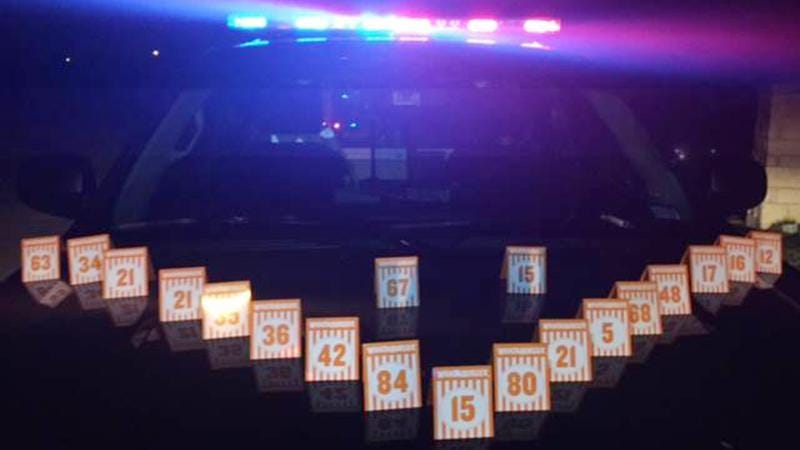 Police in Texas recover a cache of stolen Whataburger table tents (Photo: Northeast Police Department)