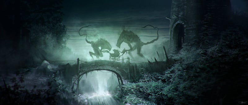 Illustration for article titled Concept Art Writing Prompt: The Demons Take Their Pram For A Stroll