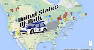 Illustration for article titled Where's Rally? A Map of All 2014 North American Stage Rallies