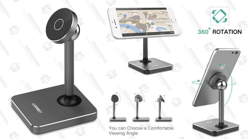 Soporte magnético UGREEN para el escritorio | $9 | Amazon | Usa el código 87HFODR4Gráfico: Shep McAllister