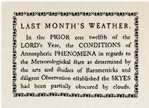 Illustration for article titled Historical Archives: Last Month's Weather
