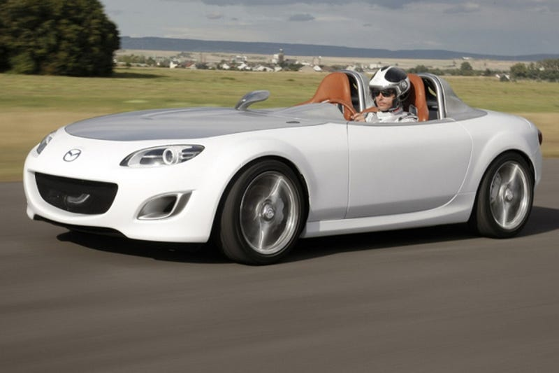 Illustration for article titled More Mazda MX-5 Superlight Concept: 2,193 Lbs Of Stripped-Out Awesome