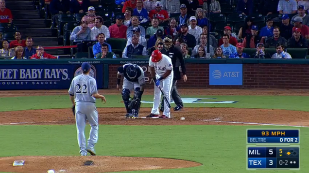 Adrian Beltre Strikes Out, Putts The Ball Away