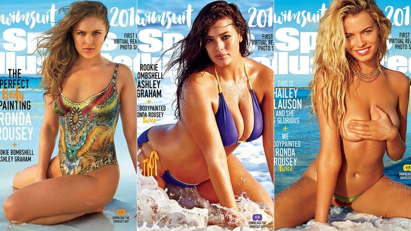 Illustration for article titled Ashley Graham Shares Her Sports Illustrated Cover with Ronda Rousey and Hailey Clauson