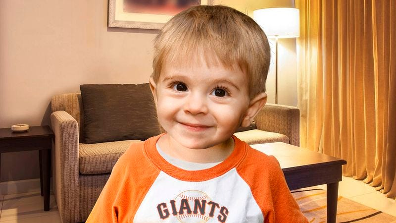 Illustration for article titled 2-Year-Old Never Thought He Would Live To See Giants Win World Series