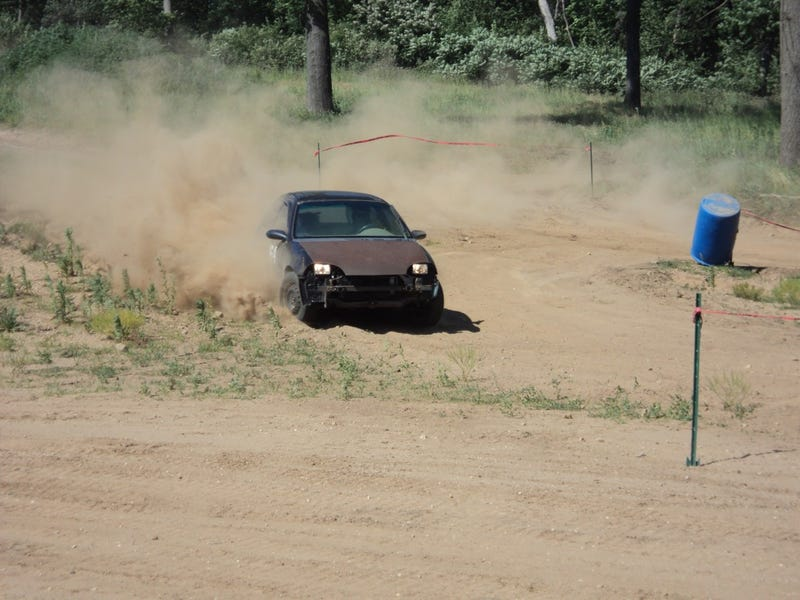Lose dirt makes it look like you're going really fast!