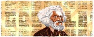 Google Doodle honoring Frederick DouglassGoogle