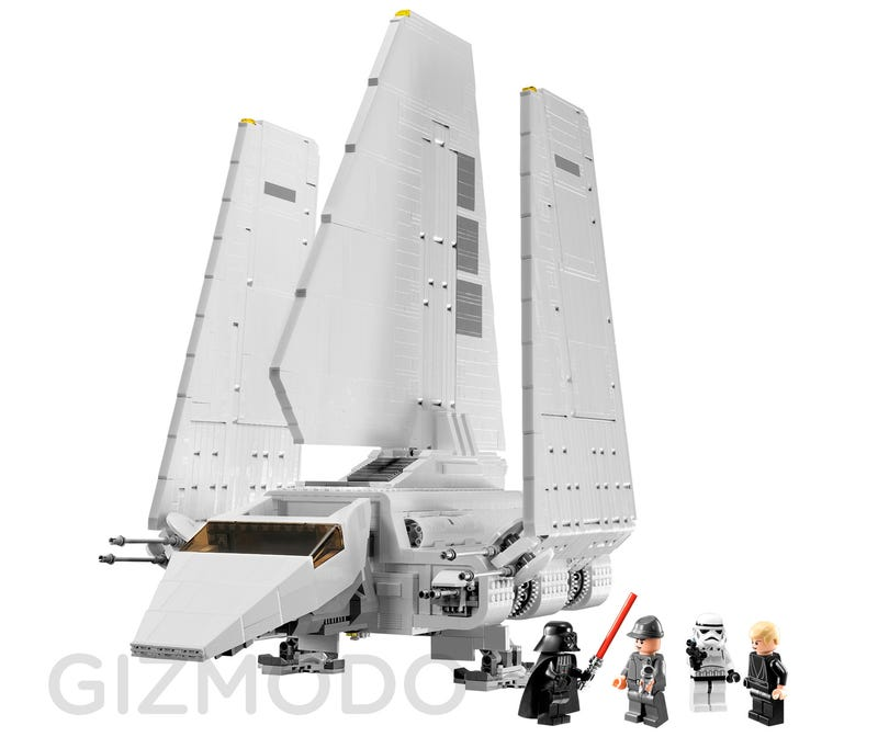 Illustration for article titled Exclusive: The New Gigantic Lego Imperial Shuttle