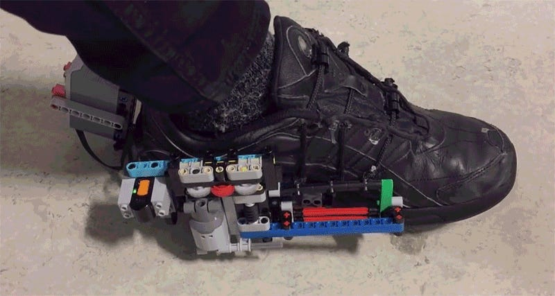 2ccdfdcde602 Save  700 and Build Your Own Pair of Self-Lacing Sneakers Using Lego
