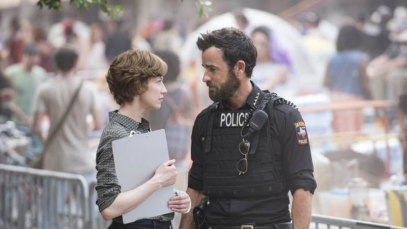 Carrie Coon and Justin Theroux of The Leftovers (Photo: Van Redin)