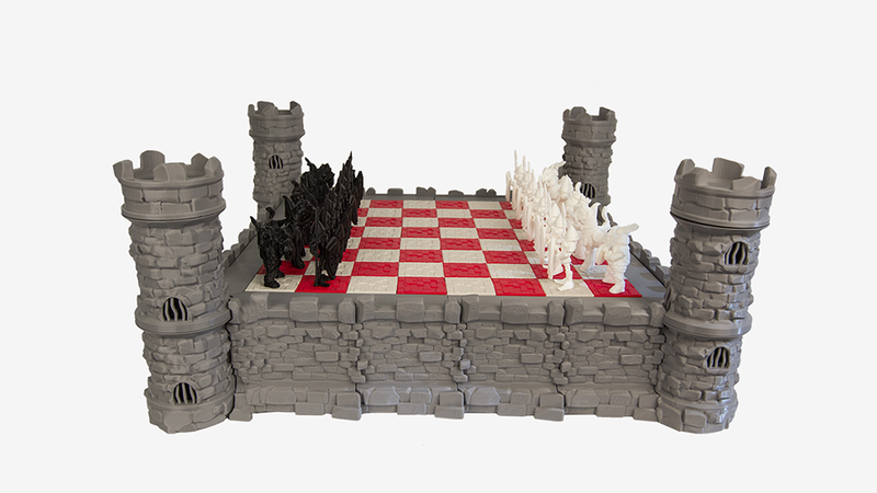 Illustration for article titled You Can 3D Print This Magnificently Medieval Chess Set at Home