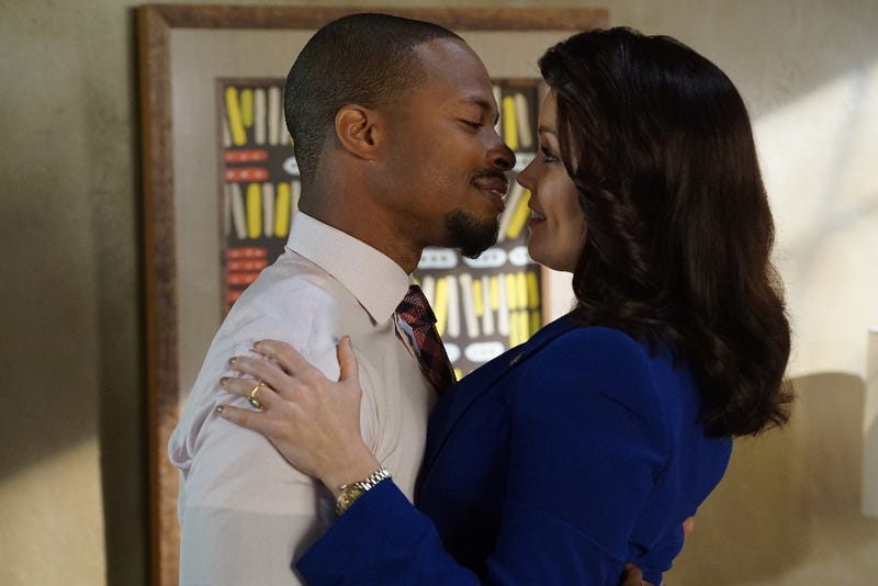 Marcus (Cornelius Smith Jr.) rocked Mellie's (Bellamy Young) world. (Eric McCandless/ABC)