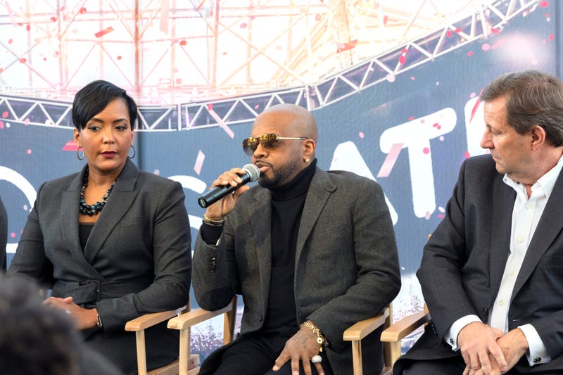 Mayor Keisha Lance Bottoms, Jermaine Dupri, William Pate.