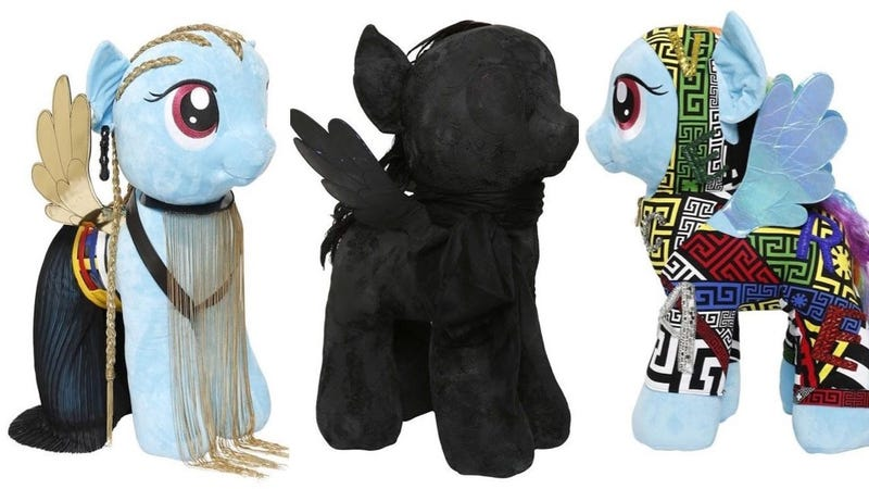Illustration for article titled Rick Owens and Versace Design My Little Pony Dolls for Charity