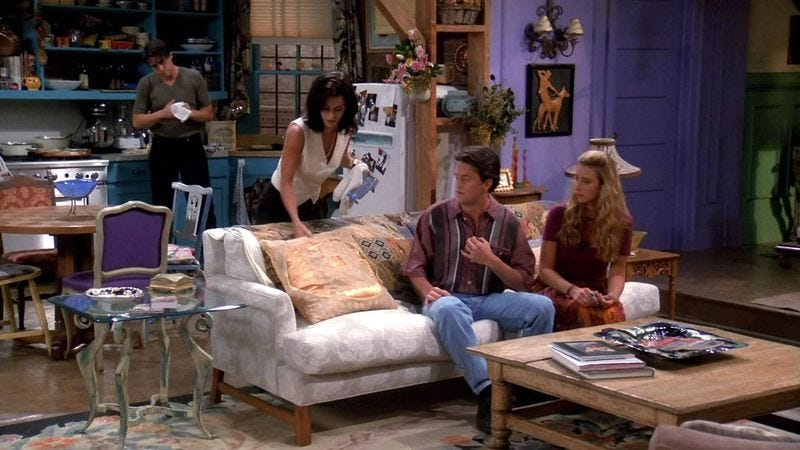 The Friends cast living inside an apartment, which Londoners can now experience for themselves.
