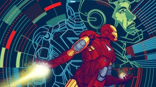 Illustration for article titled Bring home Tony Stark, with this amazing Avengers art print!