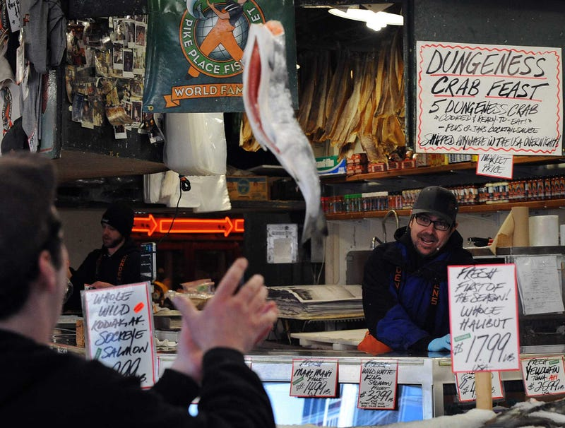 Illustration for article titled Someone Filming B-Roll At Pike Place Market Right Now