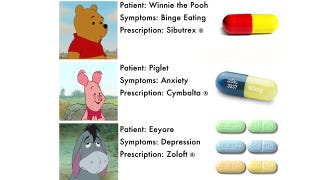 Illustration for article titled Prescription Drugs For Winnie The Pooh And Friends
