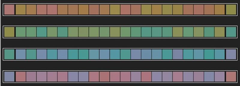 15fb9dec803f I 100 hue testen arrangerer fagene farverne inden for hver række for at  repræsentere et kontinuerligt spektrum af skygge fra den ene ende til den  anden.