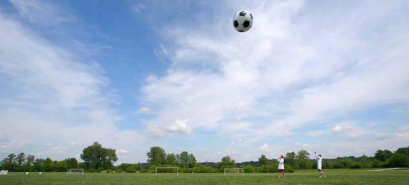 Illustration for article titled The World Cup should be played with 6-foot helium-filled soccer balls