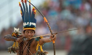 """Illustration for article titled First """"World Indigenous Peoples Games"""" in Brazil"""