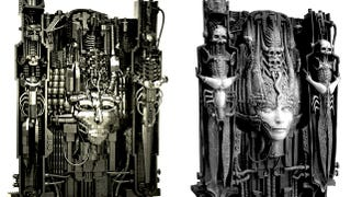 Illustration for article titled The artwork of H.R. Giger, recreated in LEGO bricks