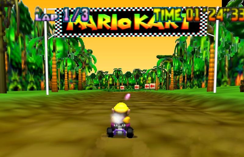 Illustration for article titled The Speedrunner Smashing Records On Mario Kart 64's Donkey Kong Track