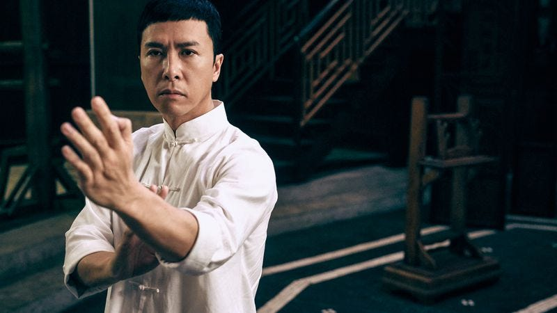 Illustration for article titled Donnie Yen plays a kung fu grandmaster one more time in Ip Man 3