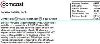 Illustration for article titled Comcast 105Mpbs Service Coming Soon for $200/month?