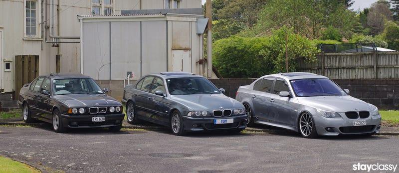 Illustration for article titled The BMW 5 Series: 3 Generations of V8 Sedans