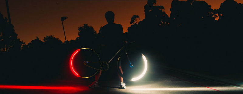Illustration for article titled Turn Your Sketchy Nighttime Bike Ride Into a Blaze of Glory with Revolights