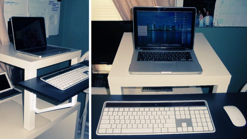 A Simple Portable Inexpensive Standing Desk Solution