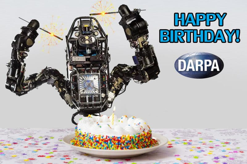 Illustration for article titled Here's DARPA's Hilariously Endearing Birthday Card to Itself