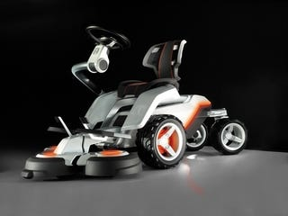 Illustration for article titled Husqvarna Panthera Leo Concept Mower is Electric-Powered and LCD-Equipped