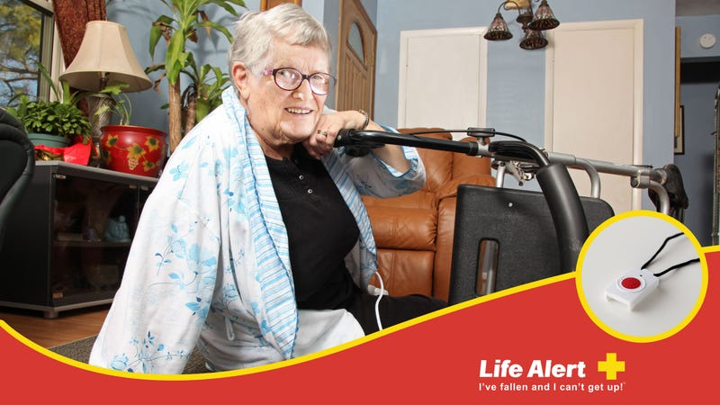 Illustration for article titled Missing The Mark: 5 Life Alert Commercials Where An Elderly Person Falls Down The Stairs And Fucking Loves It