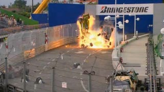 Illustration for article titled New Iron Man 2 Footage Blows Up Monaco Grand Prix Track
