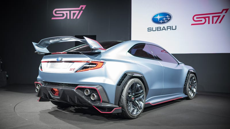 Subaru Impreza 2018 Tuning >> The Subaru Viziv Performance STI Concept Probably Isn't The Future But It's Awesome Anyway
