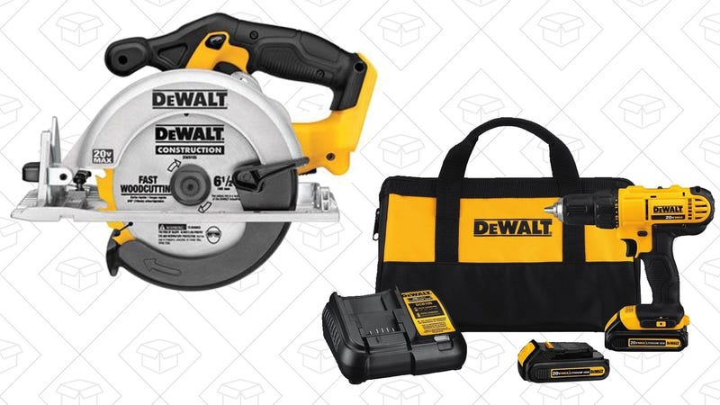 DEWALT 20V Drill Driver Kit + 20V Circular Saw | $138 | Amazon | More DEWALT Deals