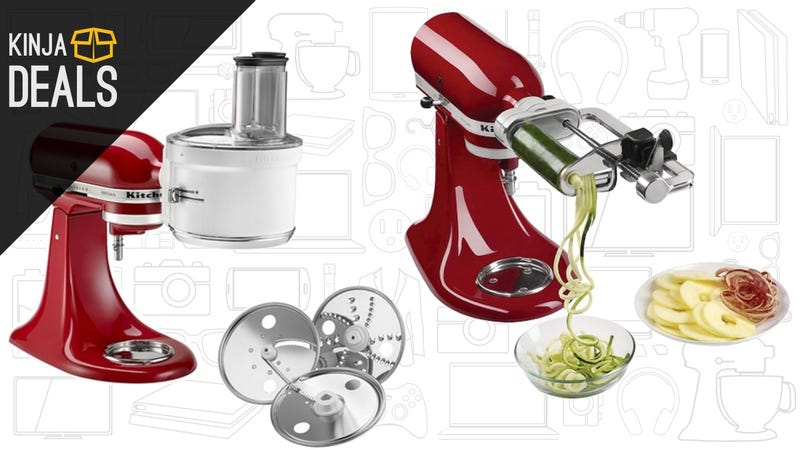 Illustration for article titled Save 25% on KitchenAid Mixers, Attachments, and Accessories, Today Only