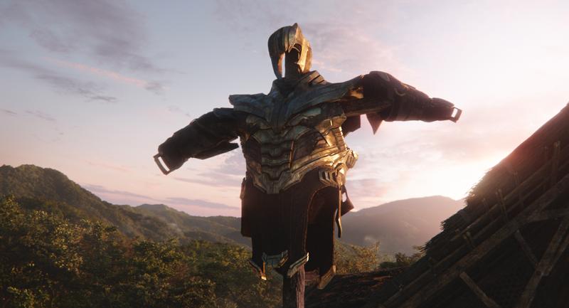 Thanos scarecrow.