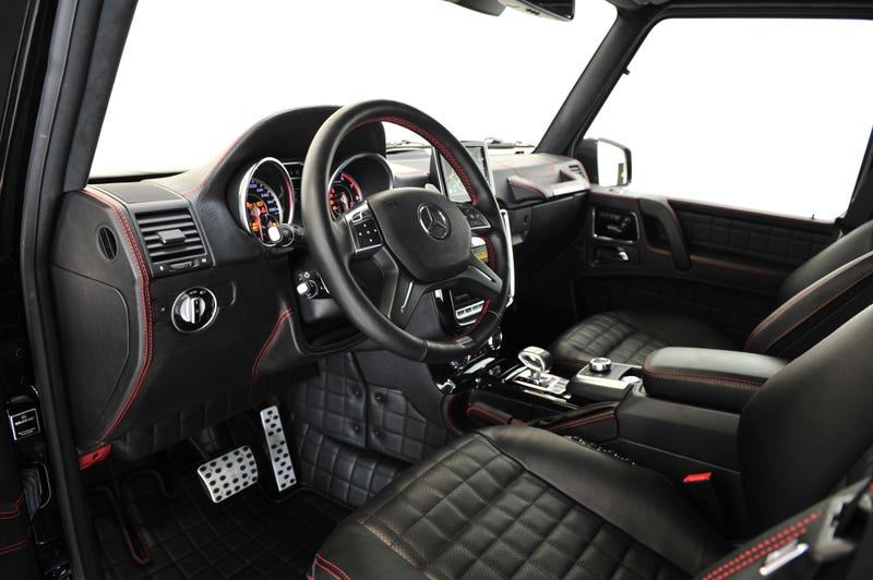 brabus g wagen has biturbo v12 1047 lb ft of torque and no limits - White G Wagon Red Interior