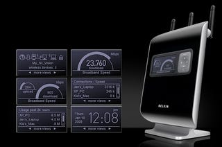 Illustration for article titled Belkin N1 Vision Router Makes 802.11n Sexier Than Ever With Built-In Screen