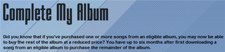 Illustration for article titled iTunes adds Complete My Album feature, charges only once for a song