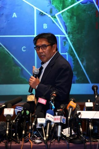 Dato' Azharuddin Abdul Rahman, director general of the Malaysian Department of Civil Aviation, briefs media over missing Malaysia Airline MH370 in Kuala Lumpur, Malaysia, March 10, 2014How Foo Yeen/Getty Images