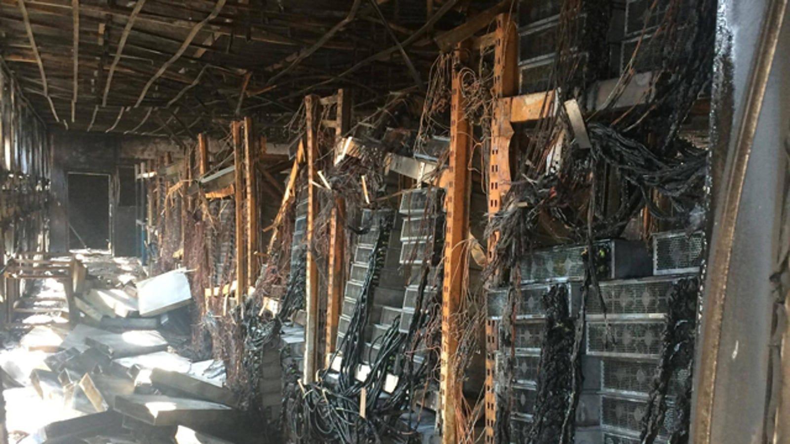 Bitcoin Mining Fire