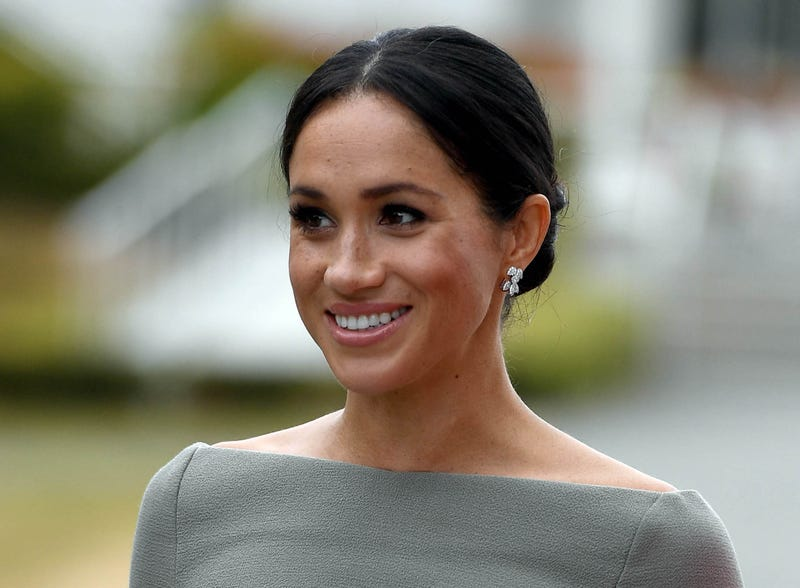 Meghan, The Duchess of Sussex seen during her visit to Ireland at Aras an Uachtarain on July 11, 2018 in Dublin, Ireland.