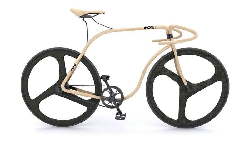 Illustration for article titled This Beautiful Bike Is Made From Bent Beech Wood